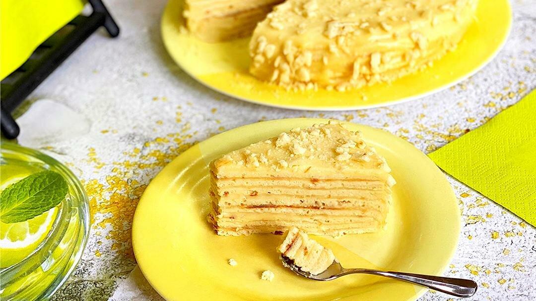 Торт на сковороде с заварным кремом - улучшенный рецепт