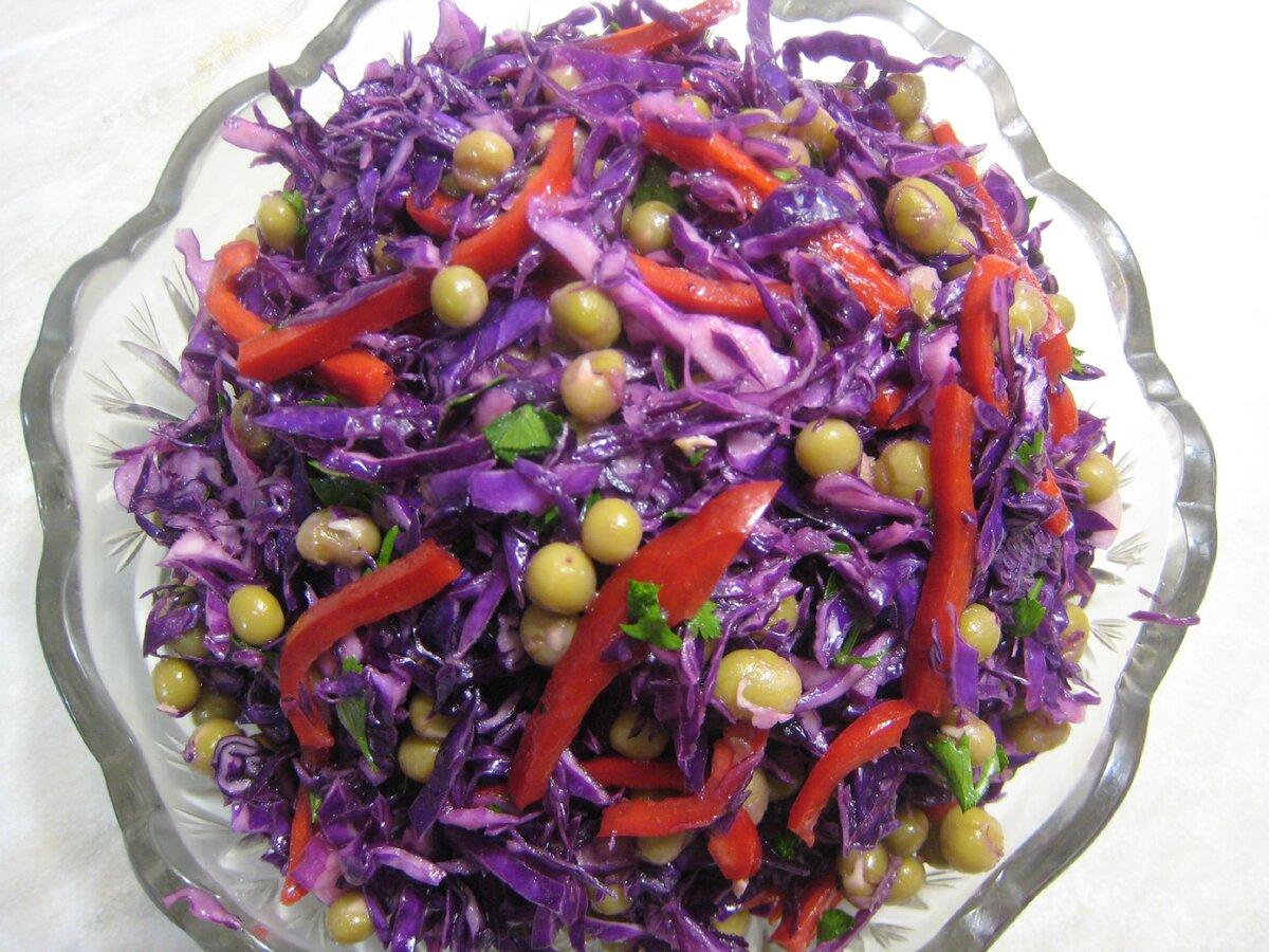 Салат из краснокочанной капусты - полезно, красиво и вкусно. Простой пошаговый рецепт с фото.