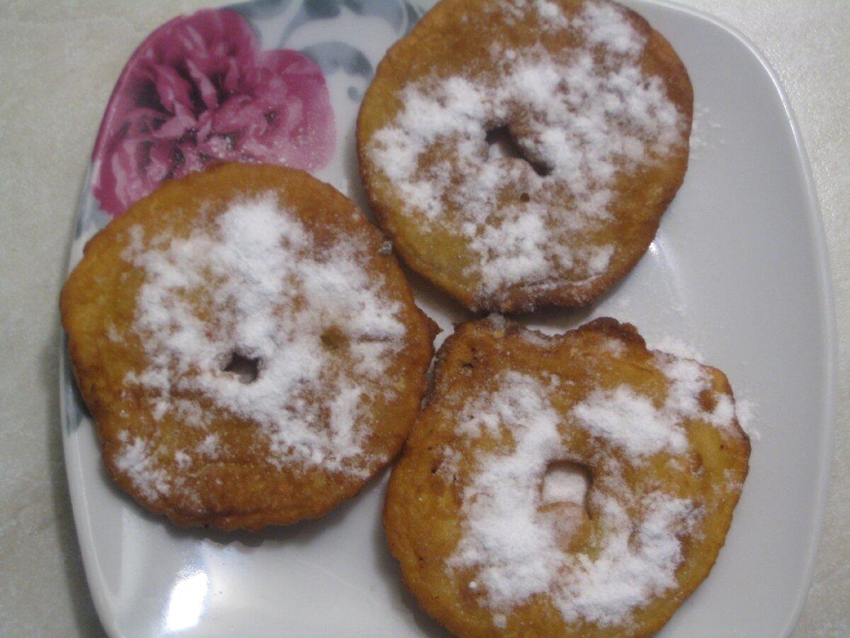 """Жареные яблоки - """"пончики"""". Быстрый и вкусный десерт. Простой пошаговый рецепт с фото."""
