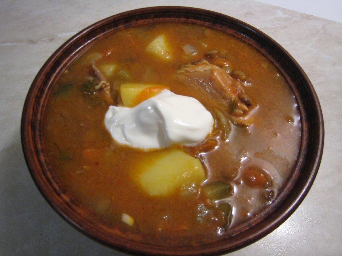 Суп с чечевицей и солёными огурцами. По мне - вкуснее рассольника. Простой пошаговый рецепт с фото.